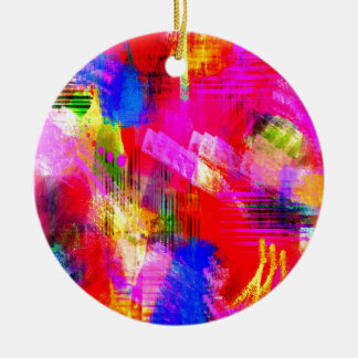 color abstract (13) round ceramic decoration