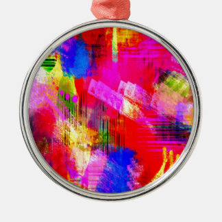 color abstract (13) Silver-Colored round decoration