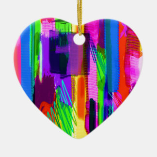 color abstract (15) ceramic heart decoration