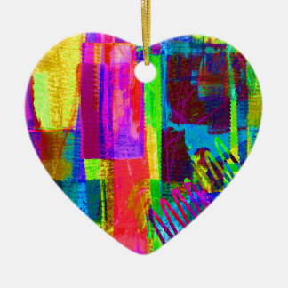 color abstract (1) ceramic heart decoration