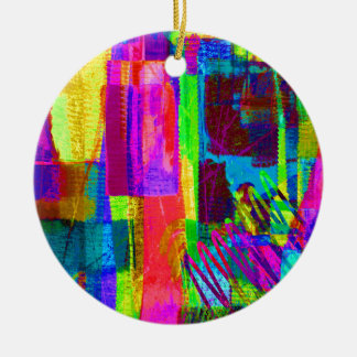 color abstract (1) christmas ornament
