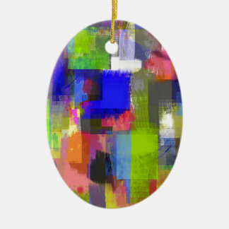 color abstract (20) ceramic oval decoration