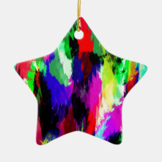 color abstract (27) christmas ornament