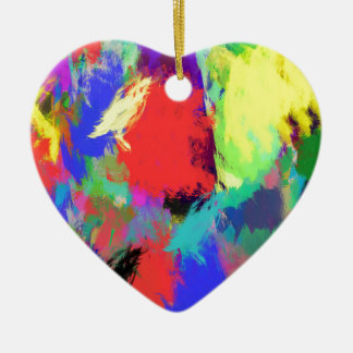 color abstract (28) ceramic heart decoration