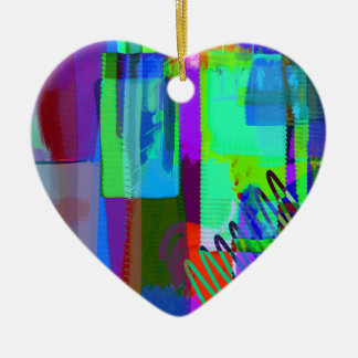 color abstract (2) ceramic heart decoration