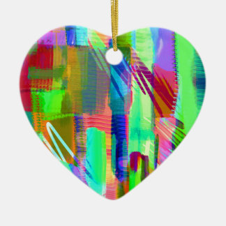 color abstract (31) ceramic heart decoration