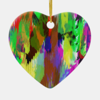 color abstract (32) ceramic heart decoration
