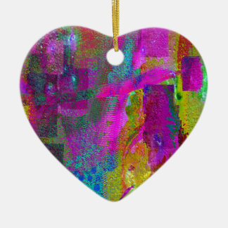 color abstract (35) ceramic heart decoration