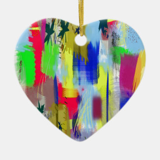 color abstract (36) ceramic heart decoration