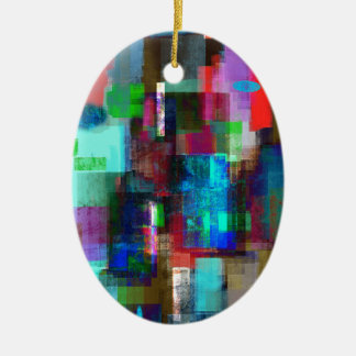 color abstract (4) christmas ornament