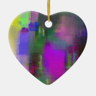 color abstract (5) ceramic heart decoration