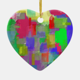 color abstract (6) ceramic heart decoration