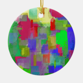 color abstract (6) christmas ornament