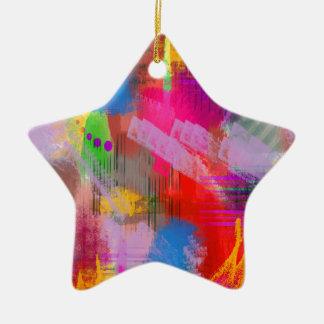 color abstract (7) christmas ornament