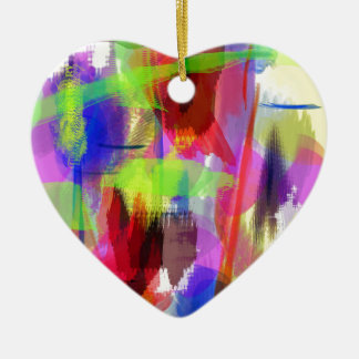 color abstract (8) ceramic heart decoration
