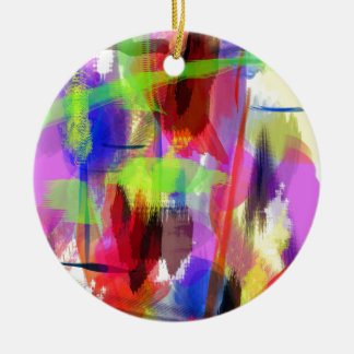 color abstract (8) christmas ornament