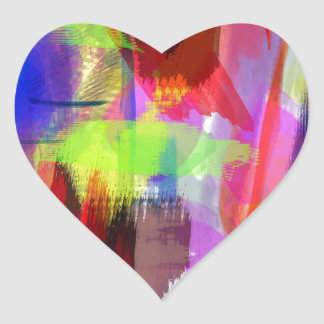 color abstract (8) heart sticker