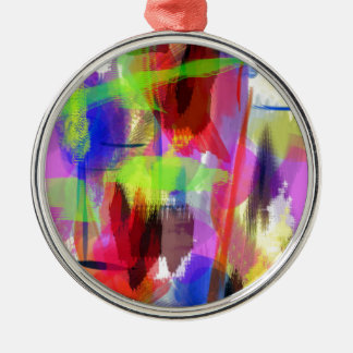 color abstract (8) Silver-Colored round decoration