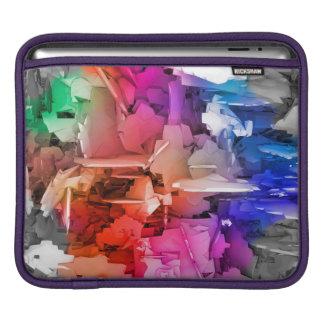 Color Abstract Art Fragments iPad Sleeve