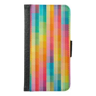 Color Abstract Background Samsung Galaxy S6 Wallet Case