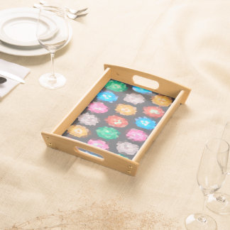 Color Abstract Background Serving Tray
