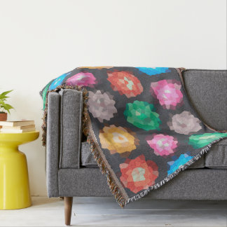 Color Abstract Background Throw Blanket