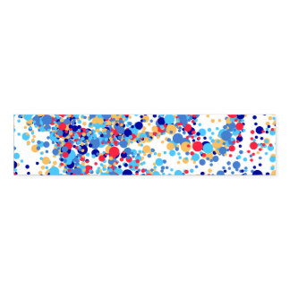 Color abstract blue dots napkin band