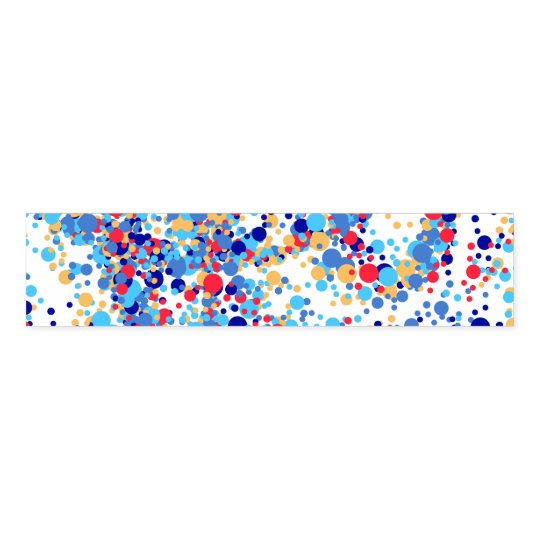 Color abstract blue dots napkin band