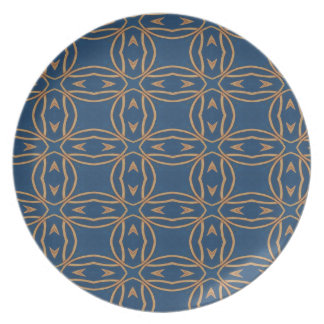 Color Abstract Pattern Blue Wallpaper Design Dinner Plate