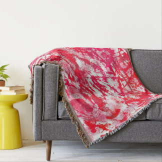 Color Abstract Red And White Background Throw Blanket