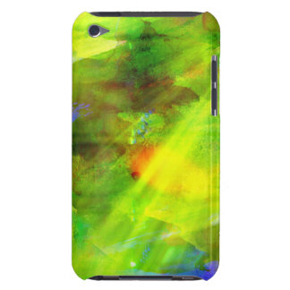 color abstract seamless background green, yellow barely there iPod cases