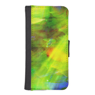color abstract seamless background green, yellow iPhone SE/5/5s wallet case