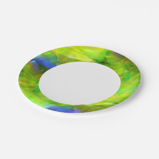 color abstract seamless background green, yellow paper plate