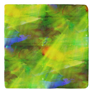 color abstract seamless background green, yellow trivet