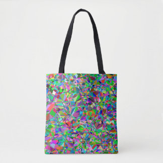 Color Abstract Stained Glass Pattern Tote Bag
