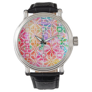 Color Abstract Watercolor Watch