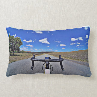 Color and black and white Fikeshot pillow. Lumbar Cushion