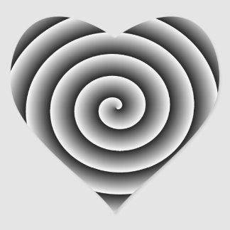 Color and Size Adjustable Swirl Heart Sticker