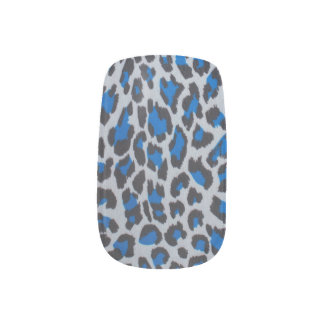 Color animal skin pattern minx nail art