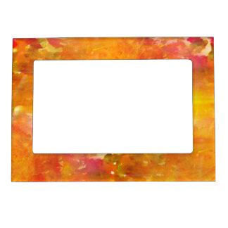color art seamless background yellow, orange magnetic picture frame