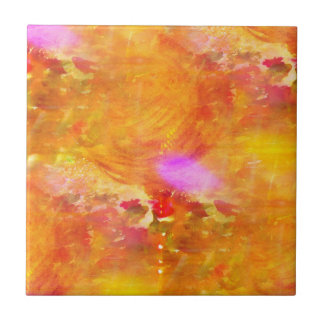 color art seamless background yellow, orange tile