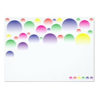 Color Balls 5x7 Paper Invitation Card
