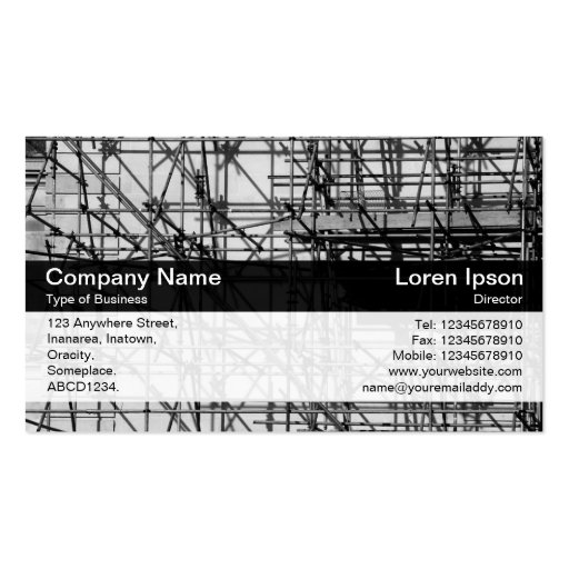 Color Band - Black - Scaffolding Business Card Templates