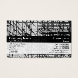 Color Band - Black - Scaffolding Business Card