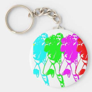 Color Bar Cameramen Basic Round Button Key Ring