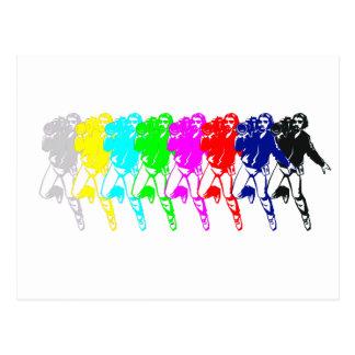 Color Bar Cameramen Postcard