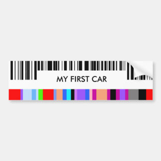 Color Bar Code Concept..with your Message. Bumper Sticker