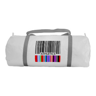 Color Bar Code ..with your text. Gym Duffel Bag