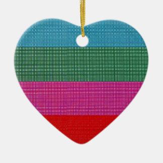 Color bars ceramic heart decoration