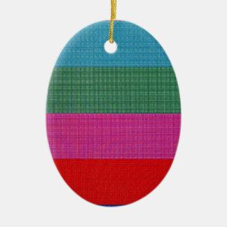 Color bars ceramic oval decoration